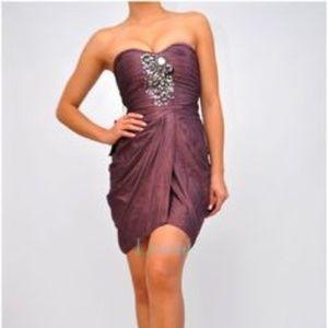 bebe Dresses - BEBE Mirror & Shine Embellished Beaded Drape Dress